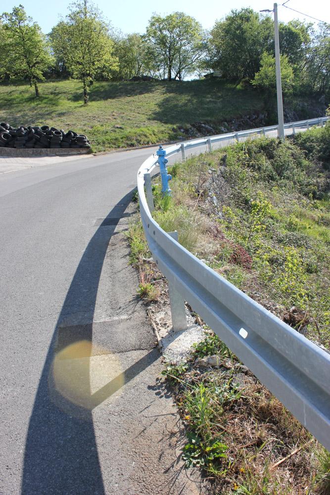 Odbojna ograda po projektu - konzolno